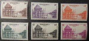 Dahomey 1941 Village on piles 20c 30c 40c 50c 60c 70c 6v MM (see scan)