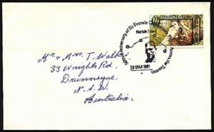 NORFOLK IS 1981 cover Francis Chichester airmail commem pmk................95971