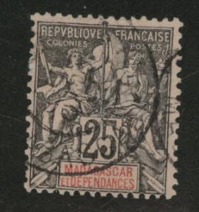 Madagascar Malagasy Scott 38 used 1896 stamp CV$4