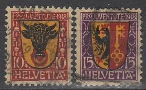 Switzerland #B10-11 F-VF Used  CV $36.00  (S1297)
