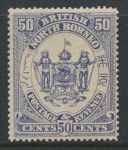 North Borneo  SG 46  MH Violet please see scans & details