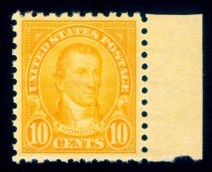 MOMEN: US STAMPS #591 MINT OG NH PSE GRADED CERT XF-90
