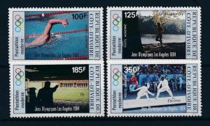 [55355] Ivory Coast 1984 Olympic games Swimming Shooting Fencing MNH