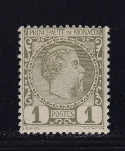 Monaco Scott # 1 F-VF OG mint previously Hinged nice color scv $ 25 ! see pic !