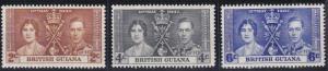 British Guiana 227-229 MNH (1937)