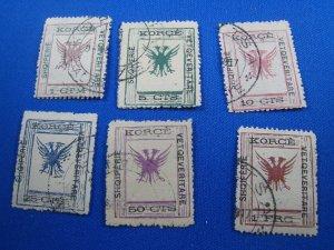 ALBANIA 1917 - SCOTT # 54-61    Used