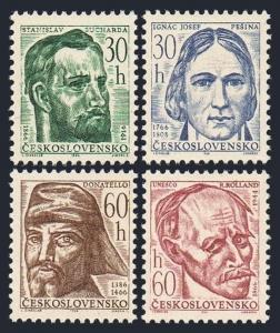 Czechoslovakia 1362-1366,MNH.Michel 1598-1601. Portraits 1966.Romain Rolland,