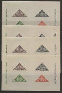 Costa Rica 183. 4 sheets [nh]