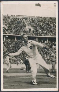 1936 Germany Olympics Gerhard Stock Javelin Throw Real Picture Postcard Cover 3