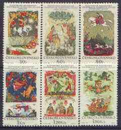 Czechoslovakia 1968 Slovak Fairy Tales perf set of 6 unmo...