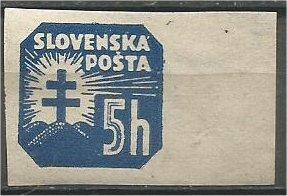 SLOVAKIA, 1939, MNH 5h, Arms, Scott P11
