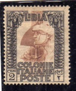 LIBIA 1921 PITTORICA CENT. 2c MLH