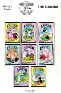 DISNEY GAMBIA 1524-1531 MINT NH EASTER 1994