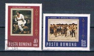 Romania 1923-24 Used set Peaseant Uprising 1967 (HV0287)
