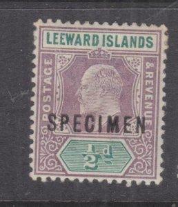 LEEWARD ISLANDS, 1902 KEVII, CA, 1/2d. Purple & Green SPECIMEN, lhm.