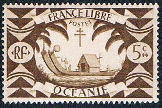 French Polynesia 136 MLH Double Canoe (BP4615)
