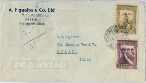 58319  -  Portuguese Guinea - POSTAL HISTORY: COVER to ITALY - 1953