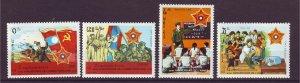J24395 JLstamps 1989 laos set mhr #922-5 designs