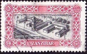 ZANZIBAR 1952 5 Shillings Black & Carmine-Red SG350 Fine Used