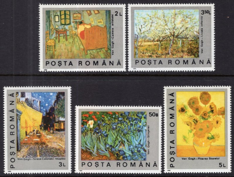 Romania MNH 3634-8 Paintings 1991