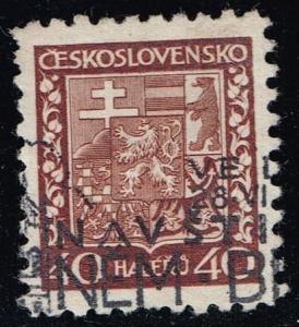 Czechoslovakia #157 Coat of Arms; Used (0.25)