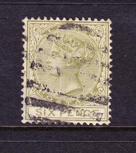LAGOS  1884-86  6d  QV   FU   SG 25