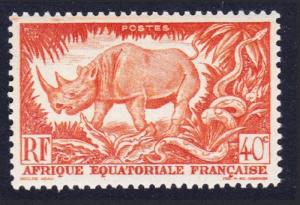 Fr. Eq. Africa Rhinoceros 40c Orange 1v SG#237 SC#168