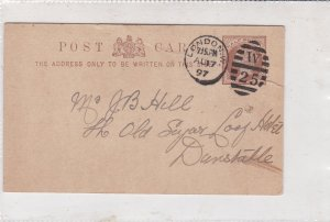 England 1897 London Cancel W25Mark Apollinaris Co. Credit Note Stamp Card  34855