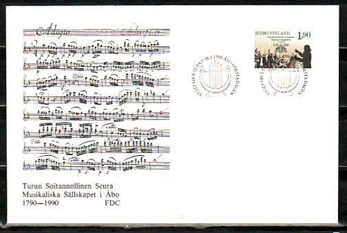 Finland, Scott cat. 812. Musical Society issue on a First day cover.