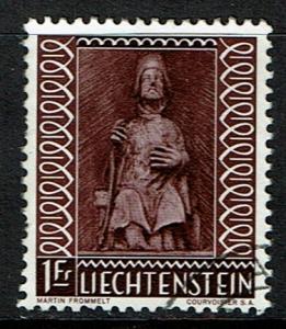 Liechtenstein Scott 352 (SW 392) Used (1959) Art - Sculpture