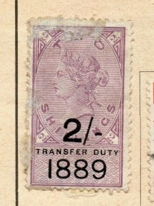 Great Britain 1889 Early Issue Fine Used 2S. Surcharged Optd NW-09074