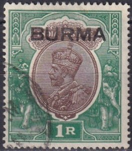 Burma #13 F-VF Used CV $5.50 (Z3907)