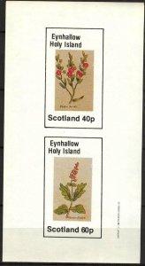 {E145} Eynhallow Scotland Flowers (5) Sh.2 Imperf. MNH Cinderella !!