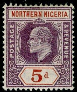 NORTHERN NIGERIA SG14, 5d dull purple & chestnut, LH MINT. WMK CA