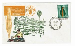 Ceylon 1966 FAO First Day Cover - Z205