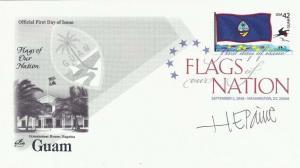 4286 44c GUAM FLAG - Signed by Stamp Designer H. E. Paine - Color
