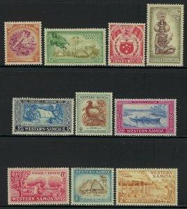 Western Samoa Scott 203-212 Mint Hinged