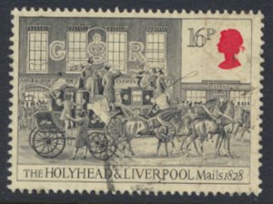 Great Britain  SG 1261  SC# 1065 Mail Coaches   Used see detail and scan