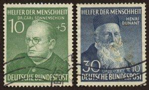 Germany - Sc# B328 & B330, Used.  2017 SCV $74.50.
