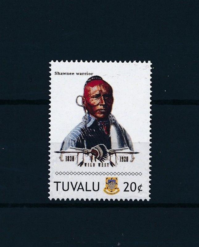 [80905] Tuvalu 2011 Native Americans Indians Shawnee Warrior MNH