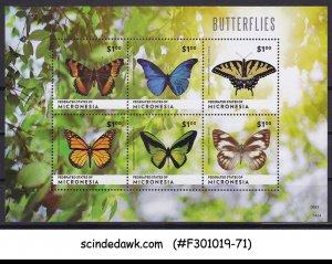 MICRONESIA - 2014 BUTTERFLIES / BUTTERFLY - MIN. SHEET MNH