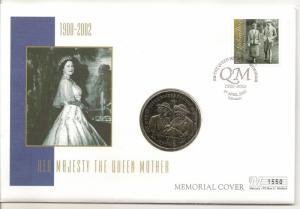 Gibraltar 2002 Queen Mother - 1 Crown Coin Cover - Ltd Ed No. 1550