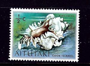 Aitutaki 82 MNH 1974 Sea Shell