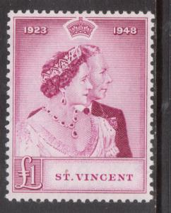 St Vincent #155 Very Fine Never Hinged