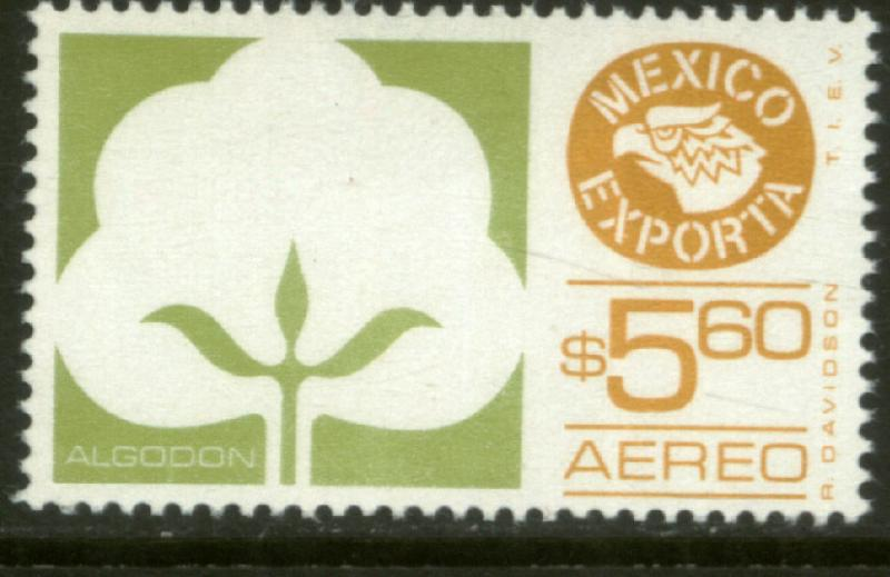 MEXICO EXPORTA C499, $5.60P. COTTON, PAPER 1. MNH