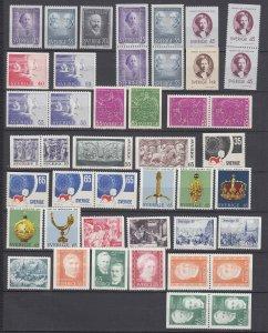 J29391, 1 1970 + all 1971 sweden sets mnh #878-up