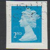 GB QE II Machin SG U2963 - 2nd brt blue -  M12L - Source  T