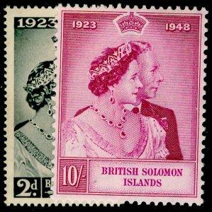 BRITISH SOLOMON ISLANDS SG75-76, COMPLETE SET, VLH MINT. Cat £10. RSW