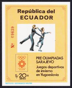 Ecuador Winter Olympic Games Sarajevo MS SG#MS1909 SC#1057A