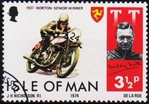 Isle of Man. 1974 3 1/2p S.G.47 Fine Used
